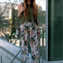 Çiçekli Hippi Kız Kombin Modelleri