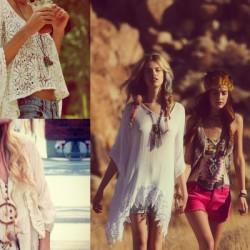 Beyaz Hippi Kız Kombin Modelleri