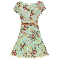 Düğmeli Yazlık Elbise Modelleri
