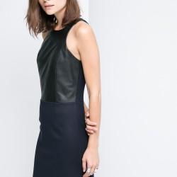 Deri Detaylı Mango Elbise Modelleri
