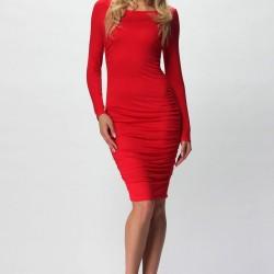 Kollu Kırmızı Yazlık Elbise Modelleri
