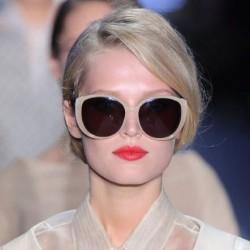 Krem Retro Güneş Gözlüğü Modelleri
