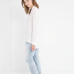 Saten Mango Bluz Modelleri
