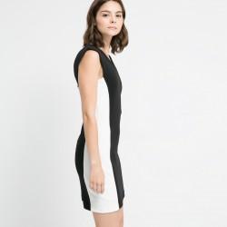 Siyah Beyaz Mango Elbise Modelleri