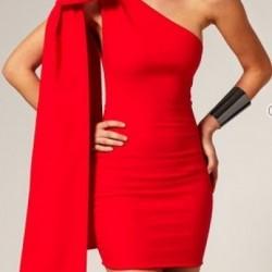 Tek Omuzlu Kırmızı Yazlık Elbise Modelleri