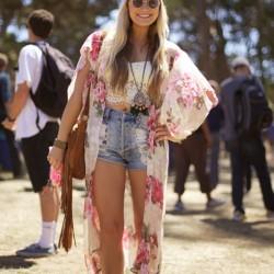 Yazlık Hippi Kız Kombin Modelleri