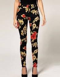 Çiçek Desenli Pantolon Modelleri