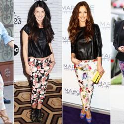 Ünlülerin Desenli Pantolon Modelleri