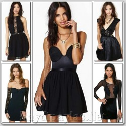 Şık Deri Detaylı Elbise Modelleri