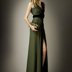 Şık Elbise 2015 Haki Rengi Giyim Modelleri