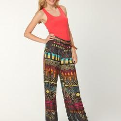 Bol Paça Desenli Pantolon Modelleri