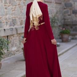 Bordo Yeni Sezon Tesettür Giyim Modelleri