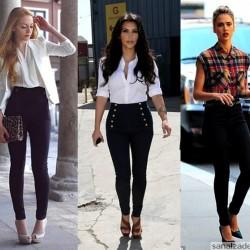 Dar Paça Yüksek Bel 2015 Pantolon Trendleri