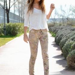 Desenli Pantolon Modeli