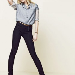 Kemerli Yüksek Bel Kot Pantolon Modelleri