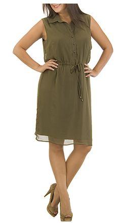 Kolsun Elbise 2015 Haki Rengi Giyim Modelleri