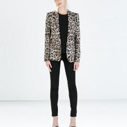 Leopar Desenli Zara Ceket Modelleri