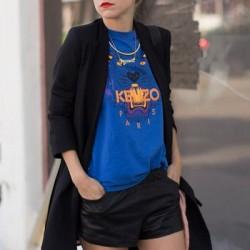 Mavi Baskılı Sweatshirt Modelleri