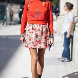 Renkli Baskılı Sweatshirt Modelleri