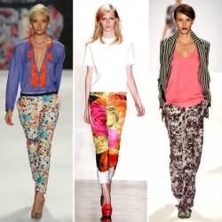 Renkli Desenli Pantolon Modelleri