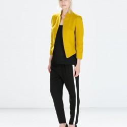 Sarı Zara Ceket Modelleri