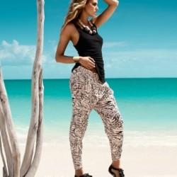 Siyah Beyaz Desenli Pantolon Modelleri