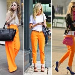 Turuncu Neon Pantolon Modelleri