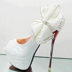 Yüksek Topuklu Yeni Sezon Gelin Ayakkabısı Modelleri