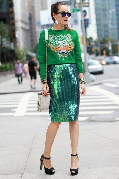Yeşil Baskılı Sweatshirt Modelleri