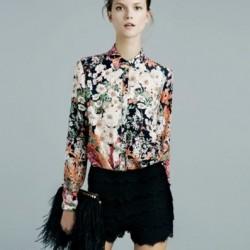 Çiçek Desenli Bluz Modeli
