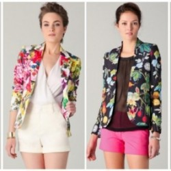 Çiçek Desenli Ceket Modelleri