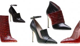 İnce Topuklu İnci Deri Ayakkabı Modelleri