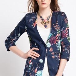 Şık Çiçek Desenli Ceket Modelleri