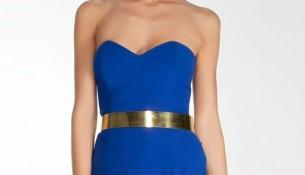 Şık Gece Mavisi Elbise Modelleri