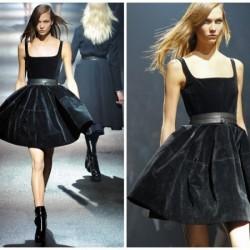 Askılı Kadife Elbise Modelleri