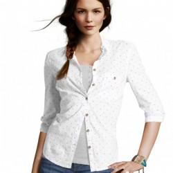 Beyaz Dar Kesim Gömlek Modelleri