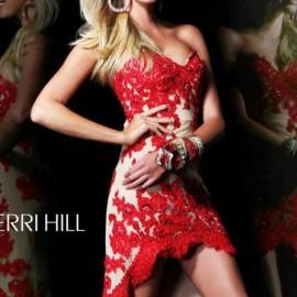 Dantelli Kırmızı Balo Elbisesi Modelleri