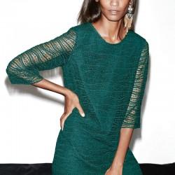 Dantelli Yeşil Elbise Mango Premium 2014