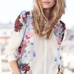 Gösterişli Çiçek Desenli Bluz Modelleri