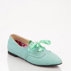 Gündelik Su Yeşili Ayakkabı Modelleri