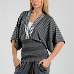 Gri Yarasa Kol Bluz Modelleri