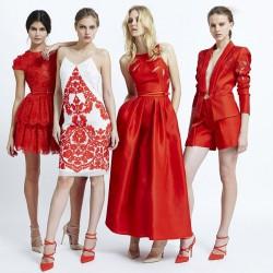 Kırmızı Zuhair Murad 2015 İlkbahar Koleksiyonu