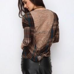 Kullanışlı Ekose Bluz Modelleri