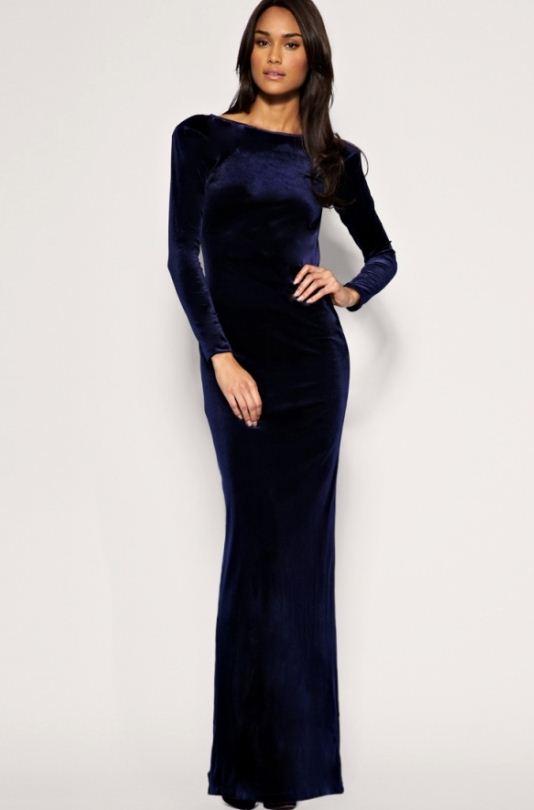 1aeda6ad4f255 Lacivert Kadife Elbise Modelleri »