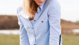 Mavi Dar Kesim Gömlek Modelleri