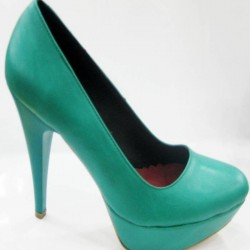 Platform Su Yeşili Ayakkabı Modelleri