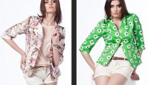 Renkli Çiçek Desenli Ceket Modelleri