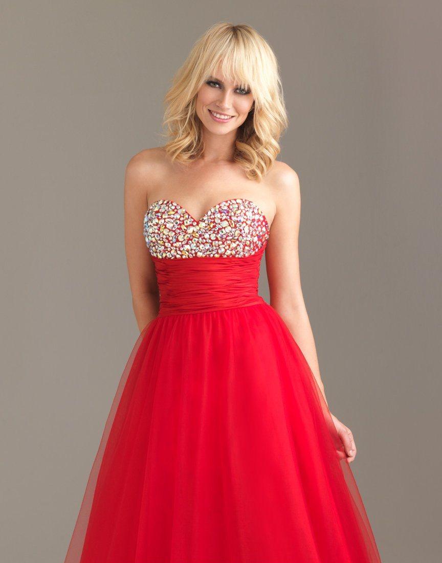 76d573a4289d4 Süslemeli Kırmızı Balo Elbisesi Modelleri »