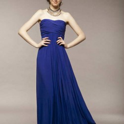 Sade Gece Mavisi Elbise Modelleri
