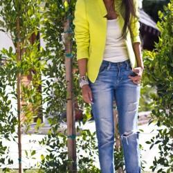Sarı Blazer Neon Ceket Modelleri